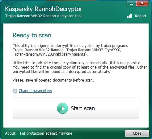 Kasperksy RannohDecryptor