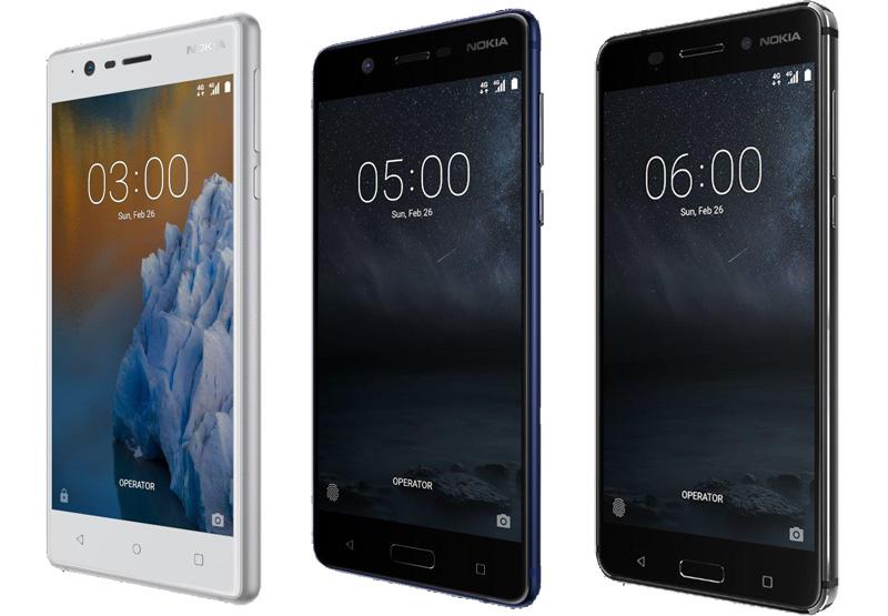 Nokia 3 Nokia 5 Nokia 6 MWC 2017